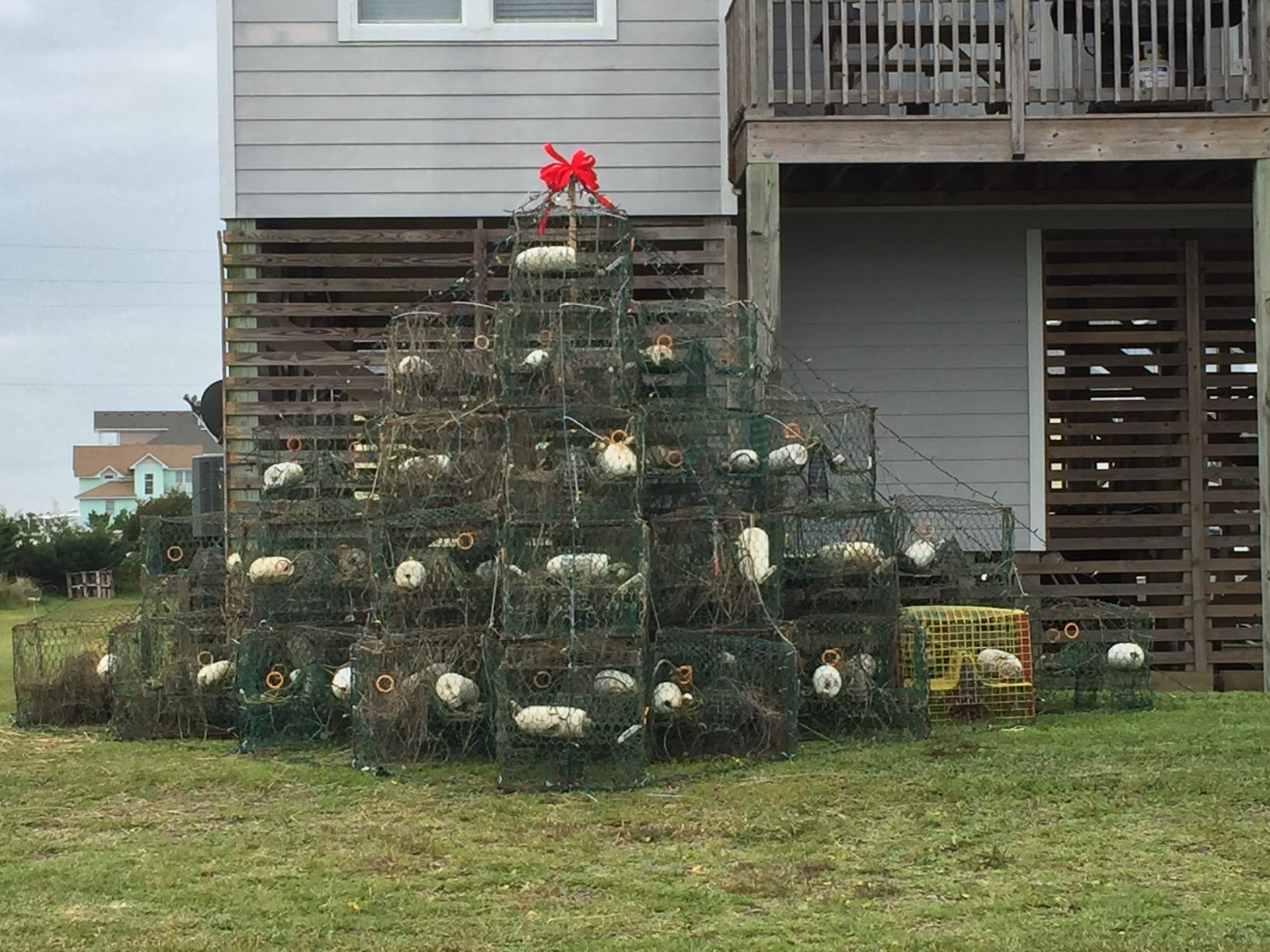 Crab Pot Christmas tree - Cape Hatteras Motel