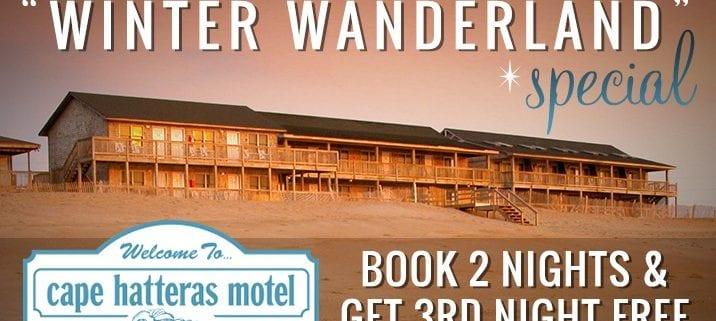cape hatteras motel special -winte