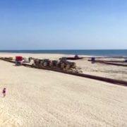 Buxton Beach Nourishment Pumping Off High Winds - Cape Hatteras Motel